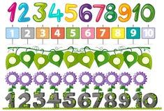 Un insieme della fonte di numero illustrazione vettoriale