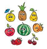 Un insieme della frutta divertente Fotografia Stock Libera da Diritti