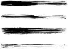 Un insieme della spazzola di vettore Immagini Stock Libere da Diritti