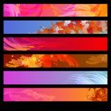 Un insieme delle bandiere di Web Immagine Stock Libera da Diritti