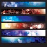 Un insieme delle bandiere di Web Fotografia Stock