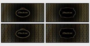 Un insieme delle cartoline d'auguri dell'invito o di quattro modelli Fotografia Stock