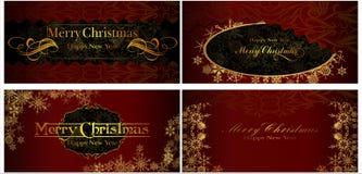 Un insieme delle cartoline di Natale. 07 (vettore) Royalty Illustrazione gratis