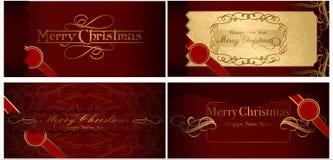 Un insieme delle cartoline di Natale. 08 (vettore) Illustrazione Vettoriale