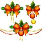 Un insieme delle decorazioni di Natale Fotografia Stock Libera da Diritti