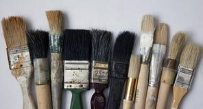 Un insieme delle dimensioni differenti delle spazzole Fotografia Stock