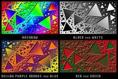 Un insieme delle figure Caos di colore Fotografia Stock
