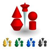 Un insieme delle forme 3D Fotografia Stock Libera da Diritti