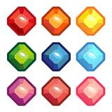 Un insieme delle gemme colorate Fotografia Stock