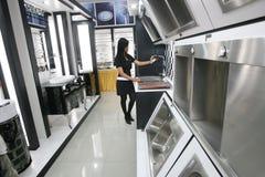 Un insieme delle icone degli apparecchi di cucina per il vostro disegno Immagini Stock Libere da Diritti