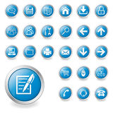 Un insieme delle icone di Web Immagine Stock
