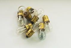 Un insieme delle lampadine d'annata bianche Fotografia Stock Libera da Diritti