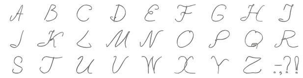 Un insieme delle lettere da un cavo d'argento Immagine Stock Libera da Diritti