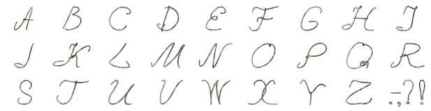 Un insieme delle lettere da un cavo ha ricoperto di consumato Immagini Stock