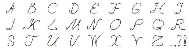 Un insieme delle lettere dal vecchio cavo Fotografie Stock
