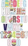 Un insieme delle lettere modellate Fotografie Stock