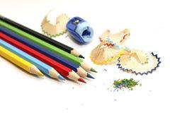 Un insieme delle matite colorate Fotografia Stock Libera da Diritti