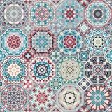 Un insieme delle mattonelle multicolori Fotografia Stock
