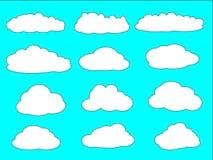 Un insieme delle nuvole con differenti forme Fotografie Stock Libere da Diritti