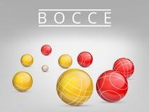 Un insieme delle palle per giocare bocce e petanque Illustrazione di vettore Fotografia Stock