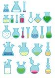 Un insieme delle provette semplici di stile royalty illustrazione gratis