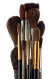 Un insieme delle spazzole dell'artista Fotografia Stock