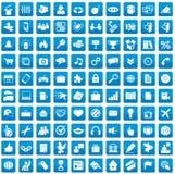 Un insieme di 100 icone per ogni giorno Immagini Stock Libere da Diritti
