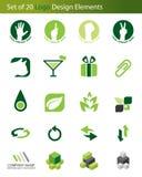Un insieme di 20 elementi di marchio illustrazione vettoriale
