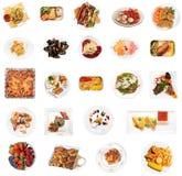 Un insieme di 24 piatti Fotografia Stock Libera da Diritti