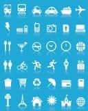 Un insieme di 36 icone di corsa di vettore Fotografie Stock Libere da Diritti
