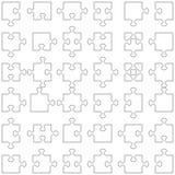 Un insieme di 36 parti di puzzle Fotografia Stock Libera da Diritti