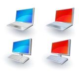 Un insieme di 4 icone di Web di vettore Immagine Stock