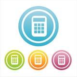 Un insieme di 4 segni del calcolatore Fotografie Stock