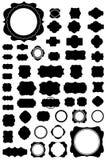 Un insieme di 50 telai e di stile dell'annata. Immagini Stock