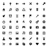 Un insieme di 56 icone Fotografia Stock