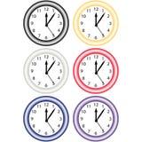 Un insieme di 6 orologi Fotografie Stock