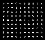 Un insieme di 90 icone di Web Fotografia Stock