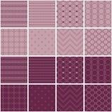 Un insieme di 16 ambiti di provenienza senza cuciture con le forme geometriche decorative Immagini Stock