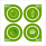 Un insieme di bio- contrassegno quattro illustrazione di stock