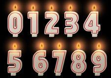 Candele numerate. Immagini Stock Libere da Diritti