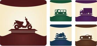 Un insieme di cinque categorie del veicolo per la patente di guida Immagini Stock