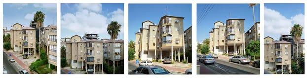 Un insieme di cinque residenziali a tre livelli del trampolo di immagini Immagine Stock Libera da Diritti