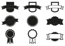 Un insieme di 9 distintivi Immagini Stock