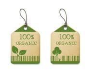 Un insieme di due etichette di eco Fotografie Stock