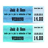 Un insieme di due inviti di nozze Immagini Stock