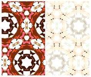 Un insieme di due modelli geometrici Fotografie Stock