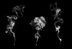 Un insieme di 3 esempi di fumo Fotografia Stock Libera da Diritti