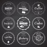 Un insieme di 9 etichette del forno del cerchio Fotografia Stock Libera da Diritti