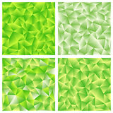 Un insieme di fondo poligonale verde quattro Fotografia Stock Libera da Diritti