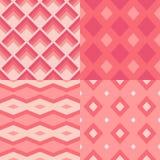 Un insieme di 4 geometrici senza cuciture Fotografia Stock